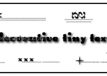 Decorative Tiny Text