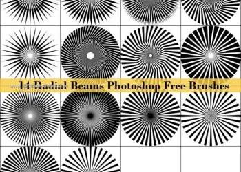 Radial Beams Free Photoshop Brushes