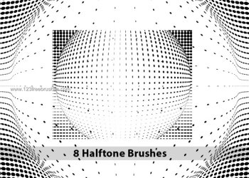 High Resolution Halftone Dot Brushes
