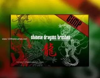 Chinese Dragons Brushes Free