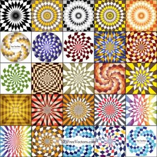 Optical Illusion Background Illustrator Vector Pack
