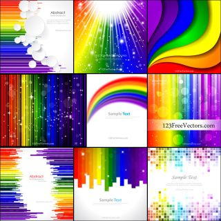 Free Rainbow Background Vector Pack
