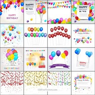 Happy Birthday Background Vector Pack