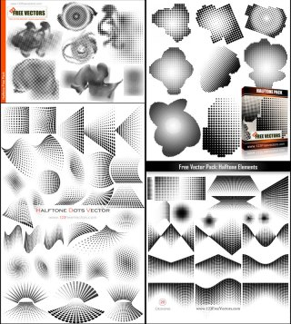 Free Halftone Dots Vector Illustrator Pack