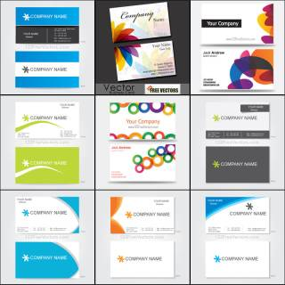 Free Business Card Templates Vector Pack