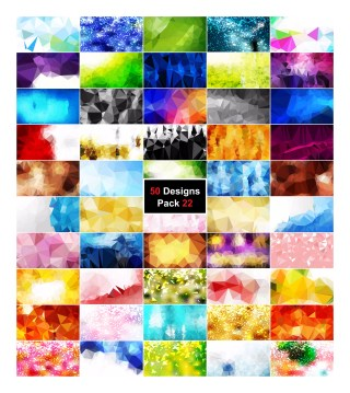 50 Abstract Polygon Background Vector Pack 22