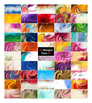 50 Abstract Swirl Background Vector Illustrator Pack 03