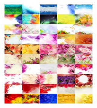 50 Abstract Background Vector Illustrator Pack