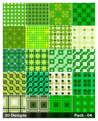 20 Green Square Pattern Background Vector Pack 04