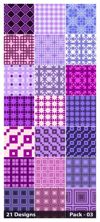 21 Purple Seamless Square Pattern Background Vector Pack 03