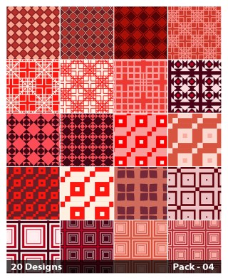 20 Red Square Pattern Background Vector Pack 04