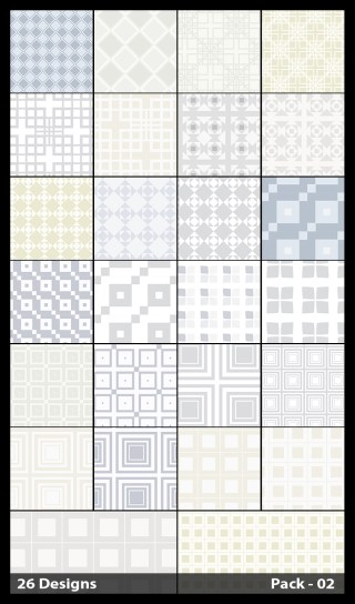 26 White Square Pattern Vector Pack 02