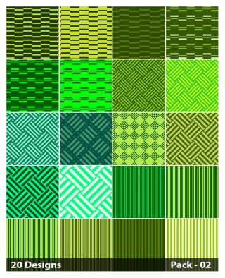 20 Green Stripes Pattern Vector Pack 02