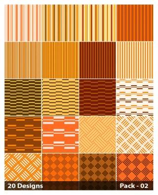 20 Orange Stripes Pattern Vector Pack 02