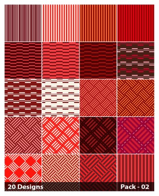 20 Red Stripes Pattern Vector Pack 02