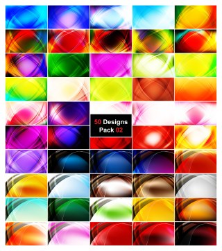 50 Curve Background Vector Illustrator Pack 02