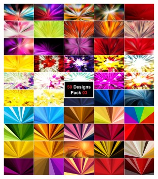 50 Radial Background Vector Pack 03