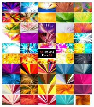 50 Radial Burst Background Vector Pack 04