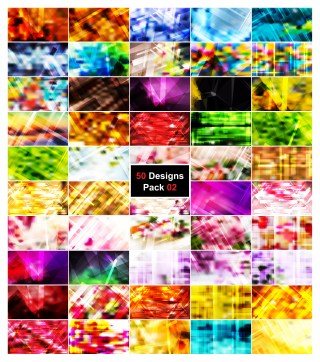 50 Modern Geometric Background Vector Pack 02