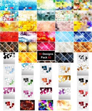 50 Modern Square Background Vector Pack 02