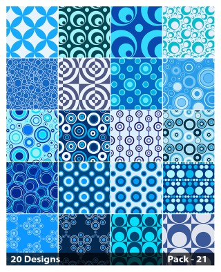 20 Blue Circle Pattern Background Vector Pack 21