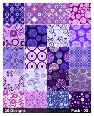 20 Purple Circle Pattern Background Vector Pack 03