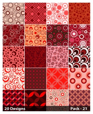 20 Red Circle Pattern Background Vector Pack 21