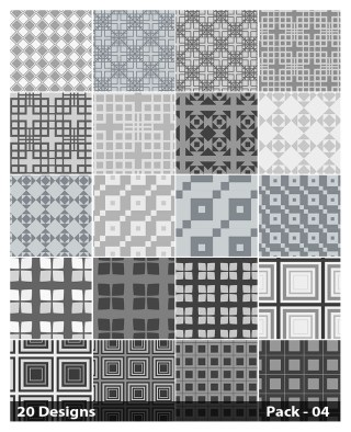 20 Grey Square Background Pattern Vector Pack 04