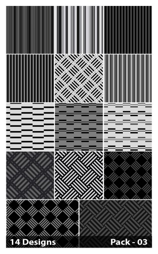 14 Black Stripes Pattern Background Vector Pack 03