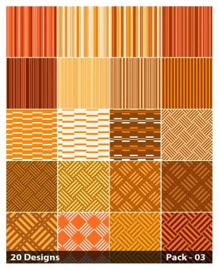 20 Orange Stripes Pattern Background Vector Pack 03