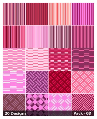 20 Pink Stripes Pattern Background Vector Pack 03