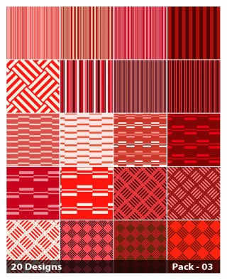 20 Red Stripes Pattern Background Vector Pack 03