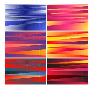 6 Shiny Abstract Background Vector Pack