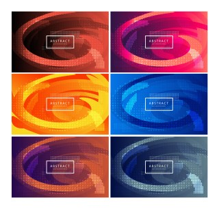 6 Letters Background Vector Pack