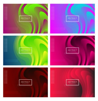 6 Liquid Color Background Vector Pack