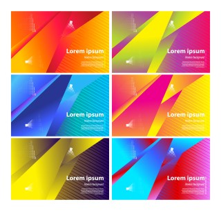 6 Fluid Color Abstract Geometric Background Vector Pack