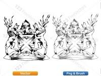 5012011-hand-drawn-sketch-heraldic-coat-of-arms-vector-and-brush-pack-02_p002