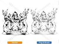 5012011-hand-drawn-sketch-heraldic-coat-of-arms-vector-and-brush-pack-02_p002