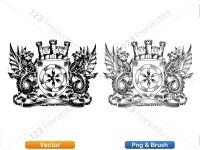 5012012-hand-drawn-sketch-heraldic-coat-of-arms-vector-and-brush-pack-03_p015