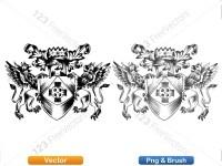 5012013-hand-drawn-sketch-heraldic-coat-of-arms-vector-and-brush-pack-04_p001