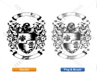 5012013-hand-drawn-sketch-heraldic-coat-of-arms-vector-and-brush-pack-04_p009