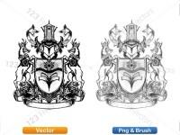 5012013-hand-drawn-sketch-heraldic-coat-of-arms-vector-and-brush-pack-04_p015