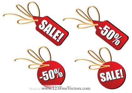 Sales Tag Free Vector