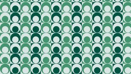 Green Retro Circles Pattern