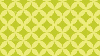 Green Overlapping Circles Pattern Background