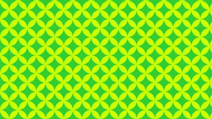 Green and Yellow Seamless Overlapping Circles Background Pattern