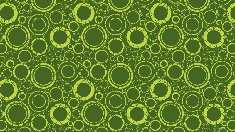 Moss Green Geometric Circle Pattern