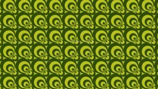 Green Seamless Circle Pattern