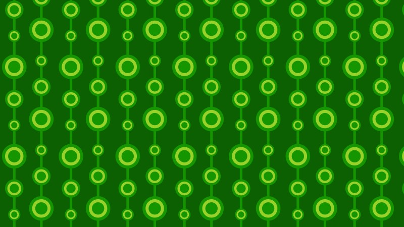 Dark Green Seamless Geometric Circle Pattern Background
