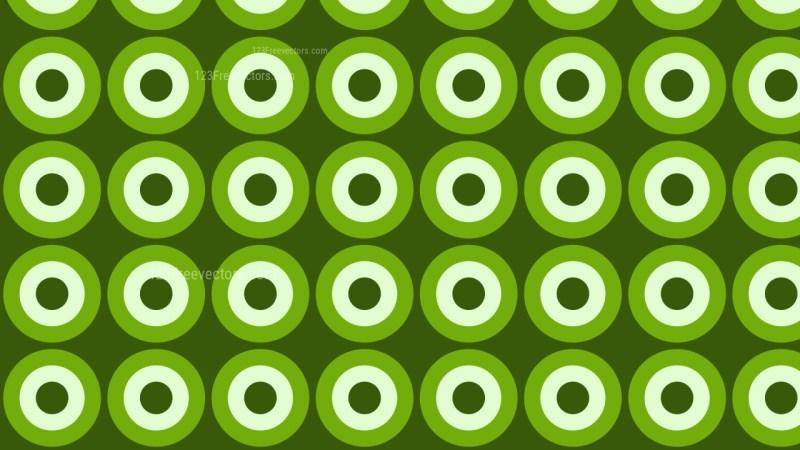 Green Seamless Geometric Circle Pattern Vector Art